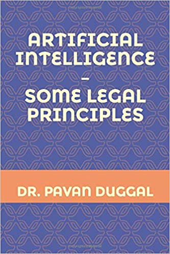 Artificial Intelligence -Some Legal Principles (Paperback)