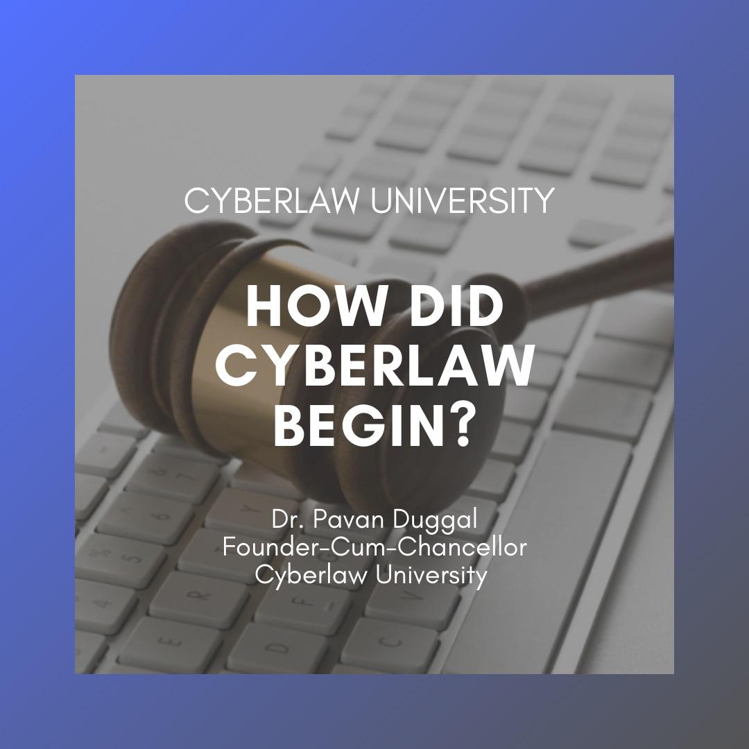 HOW DID CYBERLAW BEGIN?